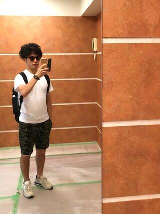 Ryo-jiさんの「【メルマガ掲載アイテム】【Hanes/ヘインズ】ジャパンフィット ヘインズ【2枚組】クルーネックTシャツ(HANES ヘインズ)」を使ったコーディネート