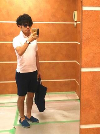 Ryo-jiさんの「Lacoste Cotton-Piqué Polo Shirt(Lacoste ラコステ)」を使ったコーディネート