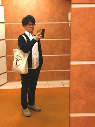 Ryo-jiさんの「【Morris & Sons】長袖ボタンダウンシャツ TMX <16SS新入荷>(Morris & Sons|モリスアンドサンズ)」を使ったコーディネート