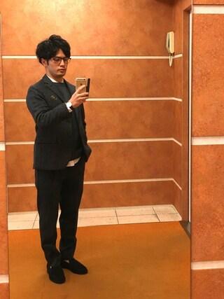 Ryo-jiさんの「BY TR 1プリーツ ワイド テーパード パンツ(BEAUTY&YOUTH UNITED ARROWS|ビューティアンドユースユナイテッドアローズ)」を使ったコーディネート