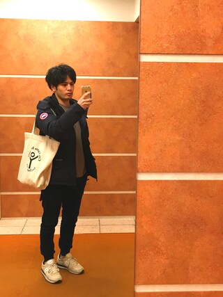 Ryo-jiさんの「<CITYLIGHTS> LOGO TOTE/トートバッグ ¨(BEAUTY&YOUTH UNITED ARROWS|ビューティアンドユースユナイテッドアローズ)」を使ったコーディネート