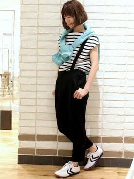 Spick & Span 渋谷ヒカリエShinQs店 tomaさんの「ピケST サスペンダーツキ パンツ。(Spick & Span)」を使ったコーディネート