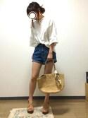 yukahiroさんの「ビッグプルオーバー(w closet|ダブルクローゼット)」を使ったコーディネート