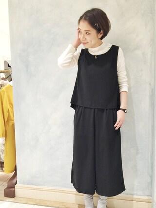 mystic LUCUA大阪店|okada sakiさんの「【mystic】セットアップコンビネゾン(mystic|ミスティック)」を使ったコーディネート