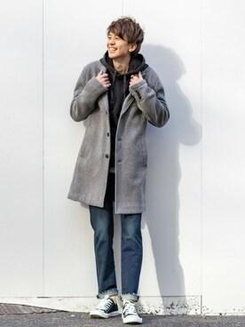 Gapストア 名古屋栄店|GapJapan_Menさんの「チェスターコート(GAP)」を使ったコーディネート