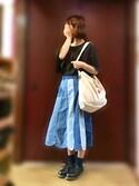 ❁ ひ っ た ん ❁ さんの「パッチワークデニムスカート(merry jenny|メリージェニー)」を使ったコーディネート