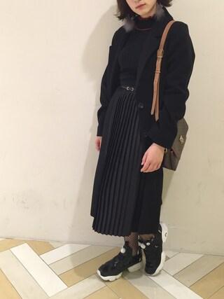 eg-phyさんの「【予約】シングルチェスターコート(w closet|ダブルクローゼット)」を使ったコーディネート