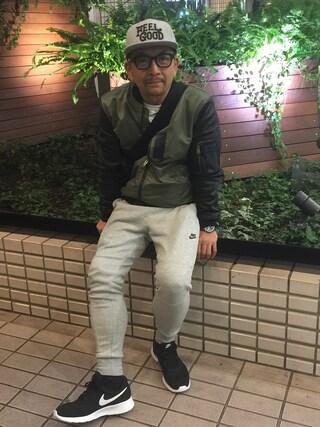 中野英雄さんの「NIKE(ナイキ) テックフリース 1.0 ロングパンツ(NIKE|ナイキ)」を使ったコーディネート
