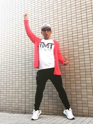 中野英雄さんの「NIKE / AIR PIVOT TRUE(NIKE|ナイキ)」を使ったコーディネート
