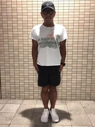 中野英雄さんの「NIKE ナイキ  AIR MAX MOTION LW ナイキ エア マックス モーション LW 833260 110WHITE/WHITE-Black(NIKE|ナイキ)」を使ったコーディネート