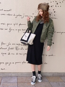 n a g i s aさんの「Balenciaga Cabas S leather-trimmed cotton-canvas tote(Balenciaga|バレンシアガ)」を使ったコーディネート