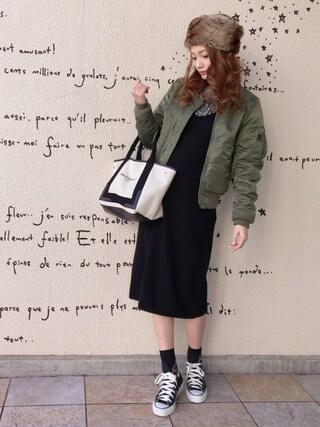 n a g i s aさんの「Balenciaga Cabas S leather-trimmed cotton-canvas tote(Balenciaga|バレンシアガ)」を使ったコーディネート