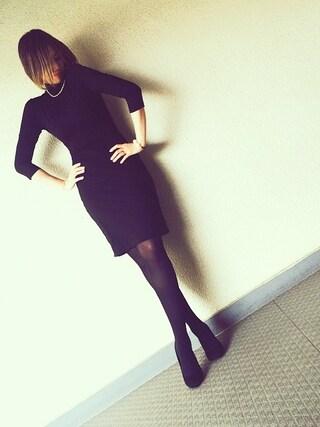 PINK!さんの「Cat Turtleneck Dress(SUSANA MONACO|スサナ・モナコ)」を使ったコーディネート