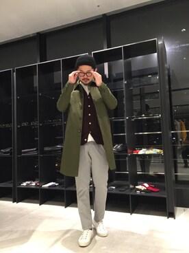 UNITED TOKYO OSAKA|hiroki_sakamotoさんのステンカラーコート「ギャバステンコート(UNITED TOKYO MENS|ユナイテッドトウキョウメンズ)」を使ったコーディネート