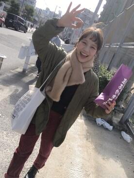 安中亜美さんの(YOSUKE|ヨースケ)を使ったコーディネート