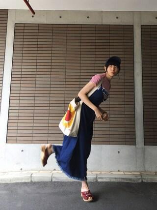 沙田瑞紀 さんの「ベーシックキャップ(MACKINTOSH PHILOSOPHY|マッキントッシュ フィロソフィー)」を使ったコーディネート