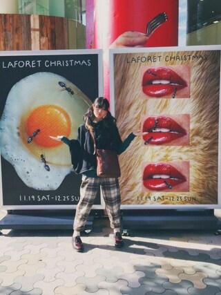 沙田瑞紀 さんの「ポンチョコート(LITTLE NEW YORK|リトルニューヨーク)」を使ったコーディネート