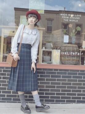 「【ナイスクラップ】ポーラー帽(one after another NICE CLAUP)」 using this リス looks