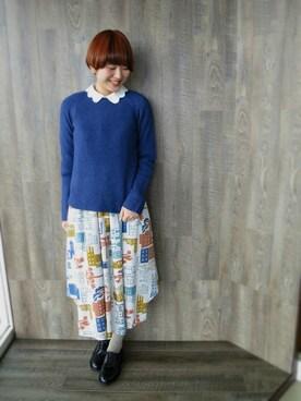 READY|kotomiさんの「◎ウォッシャブルラム7GクルーPO(I am I)」を使ったコーディネート