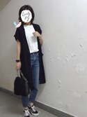 「Topshop Moto High Rise Crop Jeans (Dark Denim) (Petite)(Topshop)」 using this m.n looks