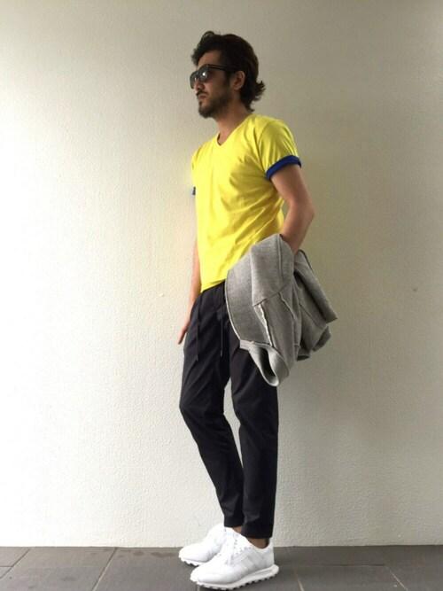 daboroさんの「袖 切り替え Tシャツ(daboro)」を使ったコーディネート