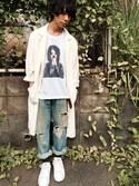 モリさんの「★2016秋冬モデル★オリジナルス スタンスミス [STAN SMITH](adidas originals|アディダスオリジナルス)」を使ったコーディネート