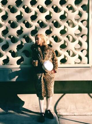 AMIAYAさんの「フェイクファージャケット(jouetie|ジュエティ)」を使ったコーディネート