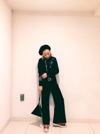AMIAYAさんの「shrink leather riders(beautiful people|ビューティフルピープル)」を使ったコーディネート