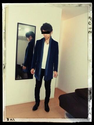 YMT1207さんの「STUDIOUS カシミヤシャギーチェスターコート MADE IN JAPAN(STUDIOUS|ステュディオス)」を使ったコーディネート