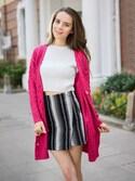 Natalieさんの「Pink Aran Cardigan(Shalex)」を使ったコーディネート
