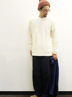 twothings&thinkさんの「new park trouser denim(Ordinary fits)」を使ったコーディネート