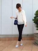 ONISHIさんの「スクエアミニトートバッグ(RANDA|ランダ)」を使ったコーディネート