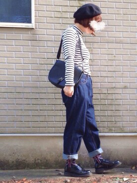 ajiさんの「バスクベレー帽(ikka)」を使ったコーディネート