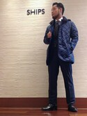 津川さんの「SD: 【ワンポイント】 ウール フラワーコモン ネクタイ(SHIPS|シップス)」を使ったコーディネート