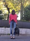 Mioさんの「2Way Fringe Tote/フリンジ/トート(SMIRNASLI サミールナスリ)」を使ったコーディネート