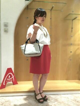岡山天満屋bijiness by SAZABY|イワサさんの「LXL-01/手提げ(SAZABY|サザビー)」を使ったコーディネート