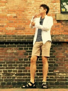 イーサン・ハント🕶さんの「KC BORDER BOAT/N S/S Tシャツ◆(green label relaxing|グリーンレーベルリラクシング)」を使ったコーディネート