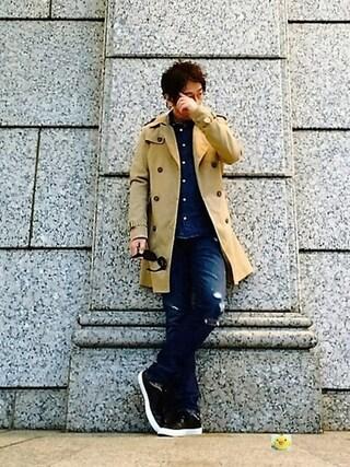 イーサン・ハント🕶さんの「ライトダンガリーシャツ(KOE|コエ)」を使ったコーディネート