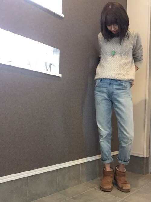 sayakaさんの「【2014年秋冬モデル】UGG Australia / WMNS CLASSIC MINI(UGG)」を使ったコーディネート