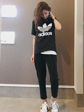 sayakaさんの(adidas|アディダス)を使ったコーディネート