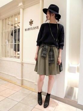 BABYLONE 札幌店|BABYLONE 札幌店さんの「エアリーギャザースカート(BABYLONE)」を使ったコーディネート