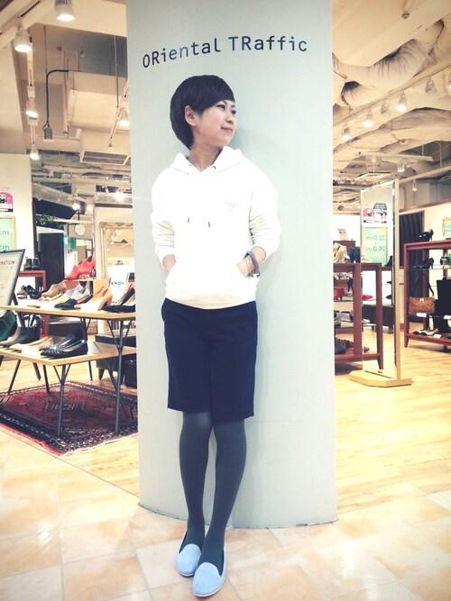 yumiさんの「春夏新作★パイピングオペラシューズ★5101(ORiental TRaffic)」を使ったコーディネート