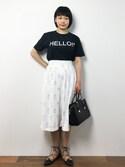372☺︎さんの「スエード切り替えハンドバッグ【PLAIN CLOTHING】(PLAIN CLOTHING プレーンクロージング)」を使ったコーディネート