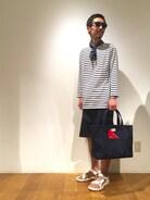 「【ORCIVAL オーシバル】7分袖ボートネックTシャツ(ORCIVAL)」 using this Bshop 天神ソラリアプラザ店|fujiwara looks