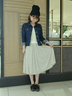 mysty woman 京都The CUBE店|中やんさんの「デニムGジャン(mysty woman)」を使ったコーディネート