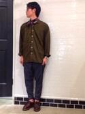 ☀︎さんの「10cent waxed cord anklet - white -(amp japan|アンプジャパン)」を使ったコーディネート