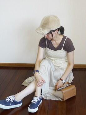haruakiさんの「ファーキャップ(E hyphen world gallery イーハイフンワールドギャラリー)」を使ったコーディネート