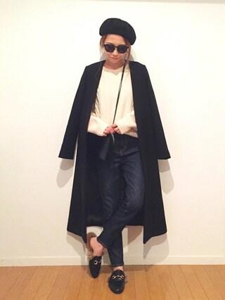 yurieさんの「LAULHERE: ベレー(SHIPS for women|シップスフォーウィメン)」を使ったコーディネート