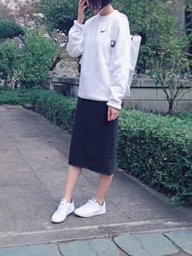 雨森Rainさんの「【Champion/チャンピオン】 スウェットスカート#(Champion)」を使ったコーディネート