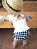 anne さんの「裾フリルモチーフタンキニ水着(petit main プティマイン)」を使ったコーディネート
